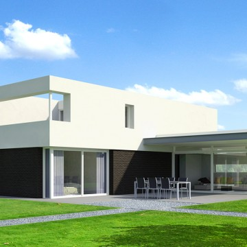 Gezinswoning met grote slaapkamer     standaard ontwerpen van adeux architecten